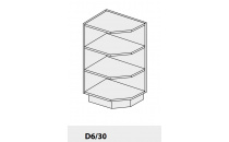 Dolní skříňka PLATINIUM D6/30 grey