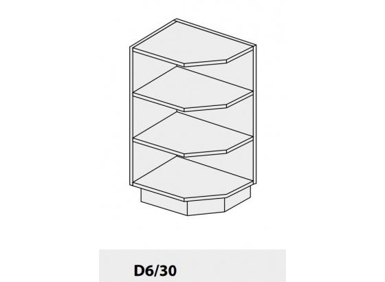 Dolní skříňka PLATINIUM D6 30 grey