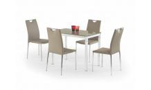 Jídelní stůl ARGUS béžový/bílý