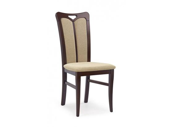 Jídelní židle HUBERT 2 ořech tmavý/Torent beige