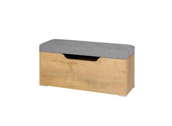 Skříňka na prádlo MIX 8 dub lefkas/bílá/šedá