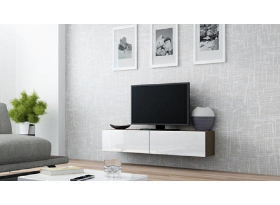 TV stolek VIGO RTV 140 latte mat/bílý lesk