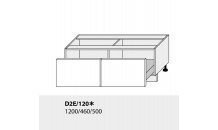 Dolní skříňka kuchyně TITANIUM D2E 120 bílá