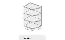 Dolní skříňka kuchyně Quantum D6 30 rohová/grey