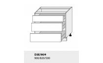 Dolní skříňka kuchyně TITANIUM D3E 90/grey