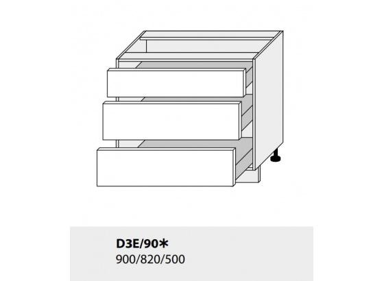 Dolní skříňka kuchyně TITANIUM D3E 90 grey