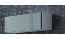 Vitrína VIGO 90 bílý mat/šedý lesk