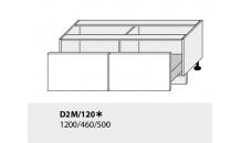 Dolní skříňka kuchyně Quantum D2M 120/grey